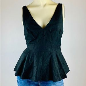 Who What Wear Black Peplum Top.